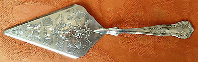 Vintage Silver Plated Cake Slice Highly Ornate Pattern By Grenadier Silver