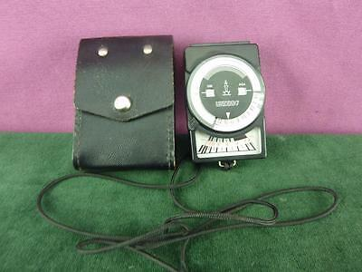 vintage Leningrad 7 Exposure light meter case good condition
