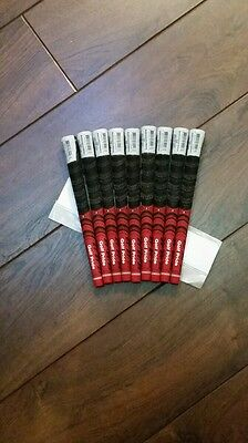 Golf Pride Multi Compound MIDSIZE Red/Black ( 9 Grips ) With free Grip tape