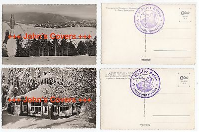 1950's GERMANY Kahler Asten 2 x Real Photo Postcards St Georg & Wald Cafe UNUSED