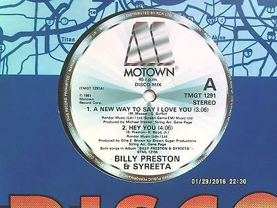 "Billy Preston & Syreeta ""a New Way To Say I Love You"" 12"" Single 1981 N/mint"