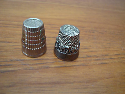2 Silver Plate Thimbles