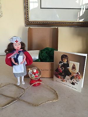 American Girl Pleasant Company Molly's Christmas Box! Nurse and Snow Globe 1988!