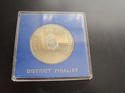 1980 Metropolitan Police Solid Nickel Silver Five A Side Youth Football Medal