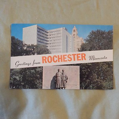 Vintage Postcard Greetings From Rochester, Minnesota