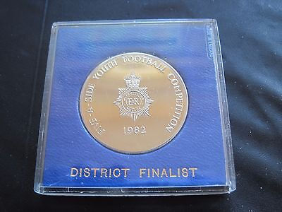 1982 Metropolitan Police Solid Nickel Silver Five A Side Youth Football Medal