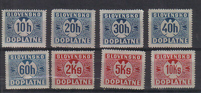 Slovakia 1939-40 Postage Dues Eight values to 10k very lightly mounted mint
