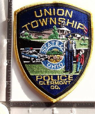 Union Township OH POLICE Patch OHIO Clermont Co. Officer & Child Bldg Car