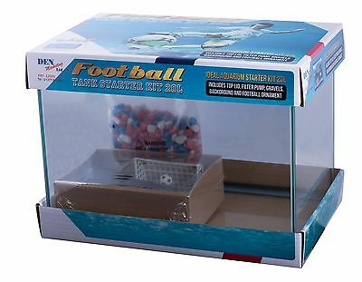 20 Ltr Fish R Fun Kids Football Glass Goldfish Fish Tank Aquarium Starter Kit