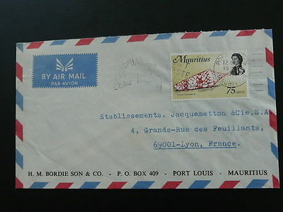 water saving postmark on Mauritius air mail cover 54889