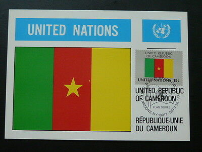 national flag of Cameroon maximum card United Nations UNO 70279