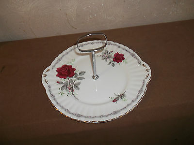 Royal Stafford Roses To Remember Cake Stand