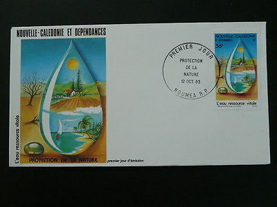 water beach plam tree ecology nature conservation FDC New Caledonia 49641