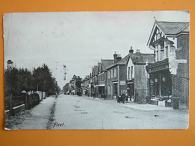Very Old POSTCARD 1905 FLEET High Street Hampshire.Written and Posted
