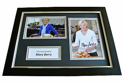 Mary Berry Signed A4 FRAMED Photo Autograph Display British Bake Off TV & COA