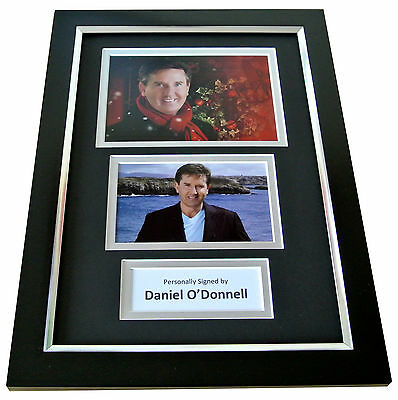 DANIEL O'DONNELL Signed A4 FRAMED Photo Autograph Display Ireland Music COA
