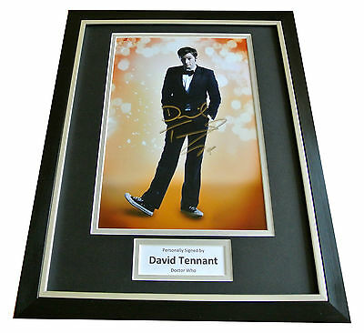 David Tennant Hand Signed & Framed Autograph Photo Display Doctor Who Gift & Coa