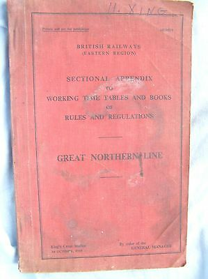 Book - British Railways Eastern - Great Nothern Line - Sectional Appendix - 1960