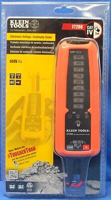 Klein Tools Electronic Voltage Tester AC / DC Electrical Current Meter Detector