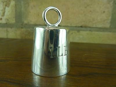 nice Vintage Mappin & Webb silver plated novelty ring weight pepper pot