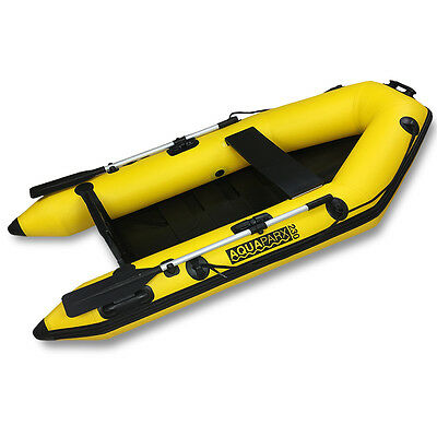 Aquaparx 230 Inflatable Boat Fishing Boat Tender with Oars Bag and Pump