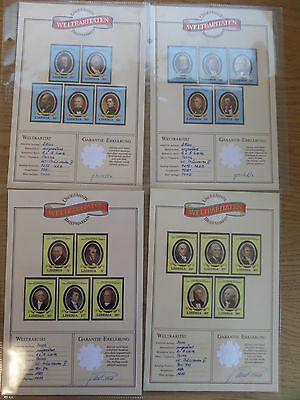 Liberia 1981 US Presidents set imperf unmounted mint on special cards