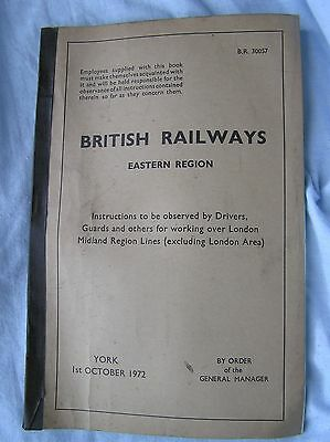 Book - British Railways East - Instructions For Drivers Guards Etc For Lmr  1972