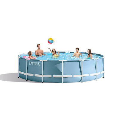 """Intex 15ft x 42"""" Prism Frame™ Swimming Pool + Pump + Acc NEW for 2017 (28734)"""