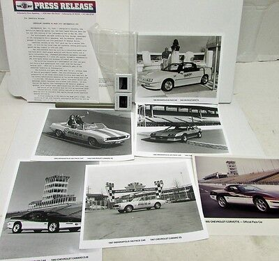 1995 Indy 500 Official Pace Car Press Kit Chevrolet Corvette History Camaro GM