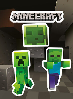 Vinyl Sticker / Aufkleber Set - MINECRAFT - Creepers (Game) - ca13 x 18cm SKP82