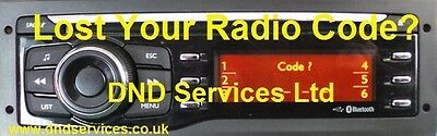 CITROEN PEUGEOT RADIO Code Decode Unlock Codelocked ? Pioneer ...