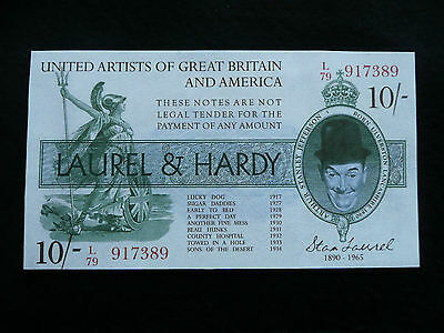 Laurel and Hardy 10 shilling Note
