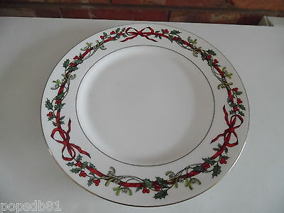"""Royal Worcester 10.5"""" Dinner Plate - Holly Ribbons - More Available"""