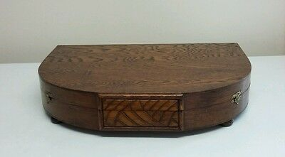 Beautiful Wooden empty cutlery canteen with two clasp fastening