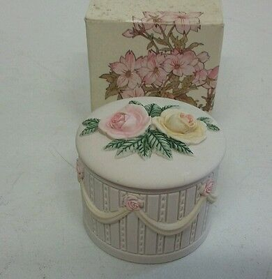 Beautiful floral Trinket Pot by HANDCAST DESIGNS