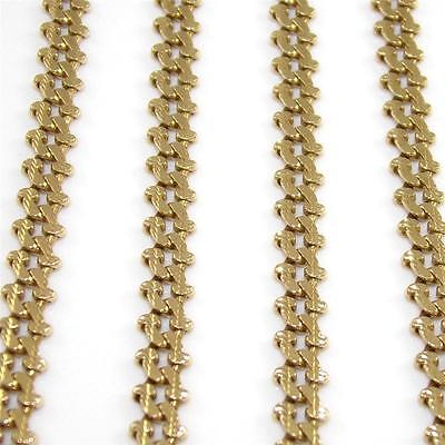 "Solid 10K Yellow Gold Curb Cuban Chain Link Necklace 22.5"" 4mm"