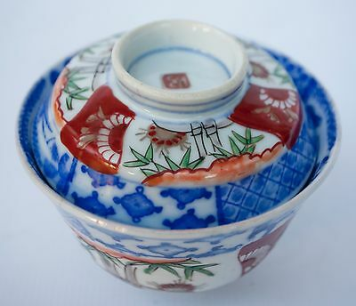 Japanese Old Imari-ware TEA BOWL/dish of soup with the lid