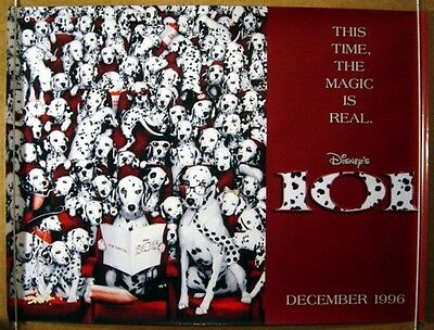 101 DALMATIANS (1996) Original Cinema Quad Movie Poster (Teaser Design 2)