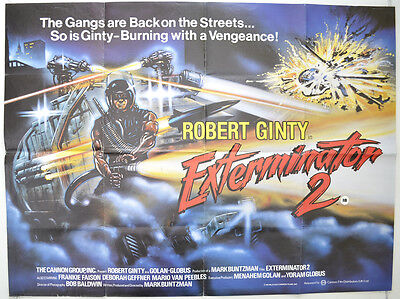 EXTERMINATOR 2 (1984) Original Quad Movie Poster - Robert Ginty, Deborah Geffner
