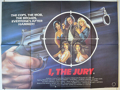 I, THE JURY (1982) Orig Cinema Quad Movie Poster - Paul Sorvino, Armand Assante