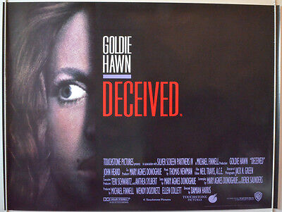 DECEIVED (1991) Original Cinema Quad Film Poster - Goldie Hawn - Movie Poster