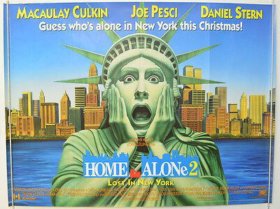 HOME ALONE 2 (1992) Original Cinema Quad Movie Poster - Macaulay Culkin (Teaser)