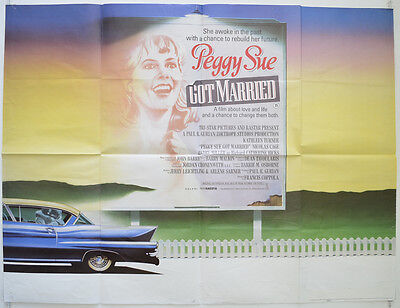 PEGGY SUE GOT MARRIED (1986) Quad Film Poster - Kathleen Turner, Francis Coppola