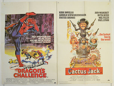 SPIDER-MAN - THE DRAGON'S CHALLENGE / CACTUS JACK (1980) Original Quad Poster