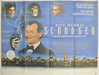 SCROOGED (1988) Original Cinema Quad Movie Poster - Bill Murray, Karen Allen