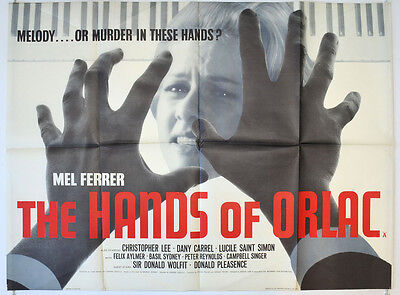 THE HANDS OF ORLAC (1960) Cinema Quad Movie Poster - Mel Ferrer, Christopher Lee