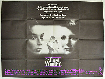 THE LAST WINTER (1983) Original Quad Movie Poster - Kathleen Quinlan, Yona Elian