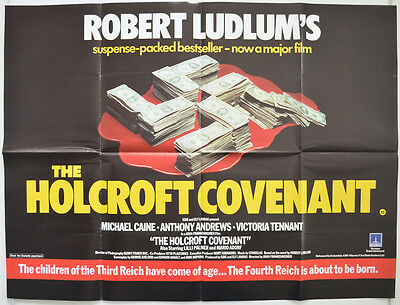 THE HOLCROFT COVENANT (1985) Original Cinema Quad Movie Poster - Michael Caine