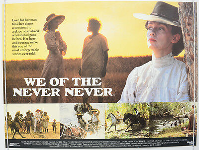 WE OF THE NEVER NEVER (1983) Original Quad Movie Poster - Angela Punch McGregor