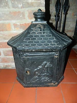Vintage wall mounted cast iron post box outdoor wall letters retro mailbox